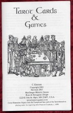tarot Games booklet